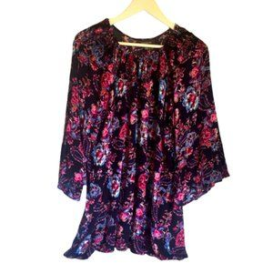 AUTOGRAPH sz 20 viscose womens relaxed fit top bell sleeve pink blue plus size